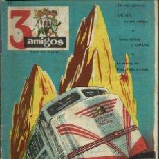 Tebeos: 3 AMIGOS Nº 19 - PPC 1958 - CON TINTIN: EL SECRETO DEL UNICORNIO, DE HERGE. Lote 276540548