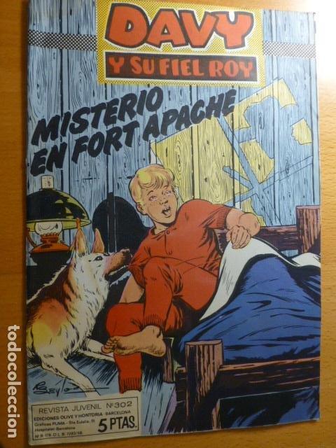 COMIC DAVY Y SU FIEL ROY Nº 302 (Tebeos y Comics - Tebeos Otras Editoriales Clásicas)