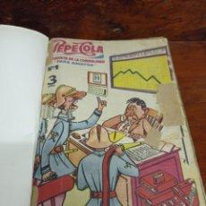 Tebeos: TOMO CON 11 TEBEOS DE PEPE COLA REVISTA DE LA CORDIALIDAD. AÑO 1959. LOS PRIMEROS NÚMEROS. VER FOTOS. Lote 276713838