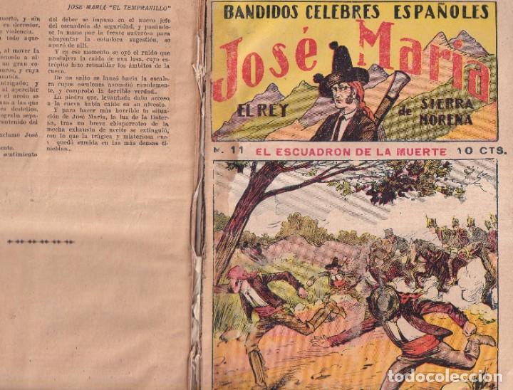 Tebeos: JOSÉ MARÍA, REY DE SIERRA MORENA, BANDIDOS CÉLEBRES ESPAÑOLES - COMPLETA EDIT. GATO NEGRO 1920 - Foto 2 - 280517533