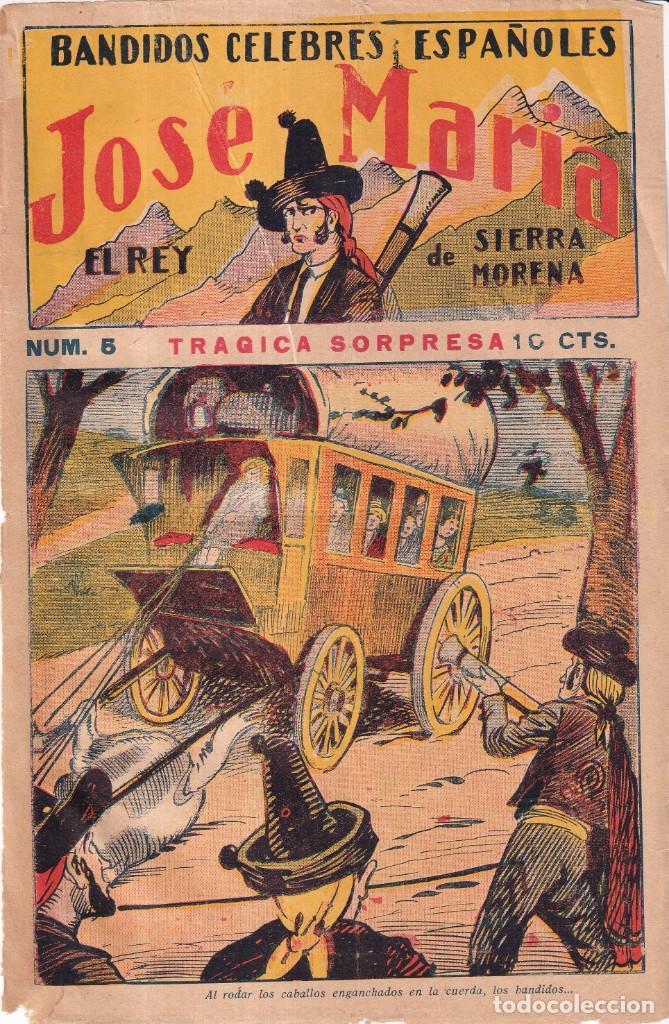 Tebeos: JOSÉ MARÍA, REY DE SIERRA MORENA, BANDIDOS CÉLEBRES ESPAÑOLES - COMPLETA EDIT. GATO NEGRO 1920 - Foto 3 - 280517533