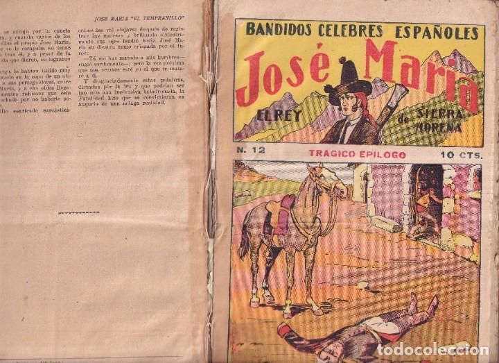 Tebeos: JOSÉ MARÍA, REY DE SIERRA MORENA, BANDIDOS CÉLEBRES ESPAÑOLES - COMPLETA EDIT. GATO NEGRO 1920 - Foto 4 - 280517533