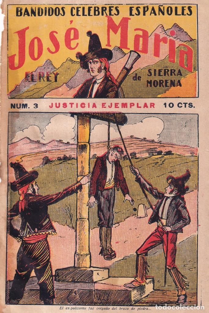 Tebeos: JOSÉ MARÍA, REY DE SIERRA MORENA, BANDIDOS CÉLEBRES ESPAÑOLES - COMPLETA EDIT. GATO NEGRO 1920 - Foto 5 - 280517533