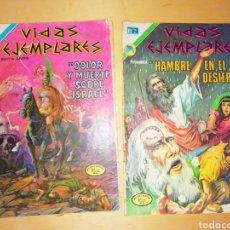 BDs: 2 COMICS ANTIGUOS VIDAS EJEMPLARES. Lote 284155073