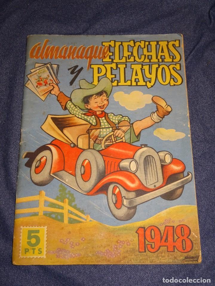 (M1) ALMANAQUE FLECHAS Y PELAYOS 1948 - RECORTABLE MUÑECAS CARLOTITA, SEÑALES DE USO NORMALES (Tebeos y Comics - Tebeos Otras Editoriales Clásicas)