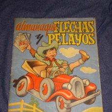 Tebeos: (M1) ALMANAQUE FLECHAS Y PELAYOS 1948 - RECORTABLE MUÑECAS CARLOTITA, SEÑALES DE USO NORMALES. Lote 285231138