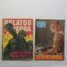 Tebeos: LOTE 2 RELATOS DE GUERRA Nº 20 BAZOOKA PARA TRES 1962 Y Nº 166 SALDO DE CUENTAS 1969 EDICIONES TORAY. Lote 286708713