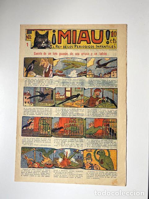 ¡MIAU! NÚMERO 1. GATO NEGRO, 1929. EXCELENTE ESTADO (Tebeos y Comics - Tebeos Clásicos (Hasta 1.939))