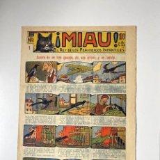 Tebeos: ¡MIAU! NÚMERO 1. GATO NEGRO, 1929. EXCELENTE ESTADO. Lote 286773783