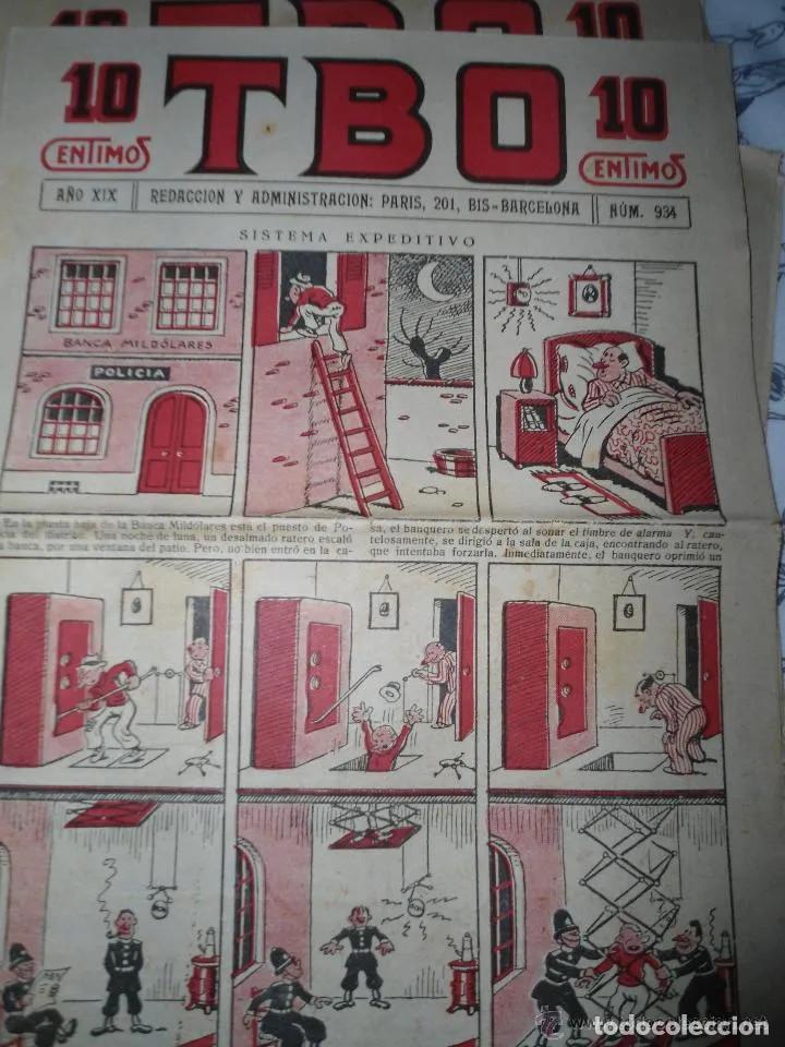 ANTIGUO TBO PRIMERA EPOCA - NUMERO 934 - SISTEMA EXPEDITIVO (Tebeos y Comics - Tebeos Clásicos (Hasta 1.939))