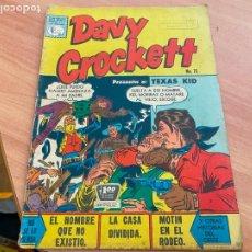 Tebeos: DAVY CROCKETT Nº 75 TEXAS KID (ORIGINAL LA PRENSA) DIFICIL (COIB207). Lote 287956433