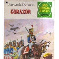 Tebeos: JOYAS LITERARIA JUVENILES CORAZON N,198. Lote 288005283