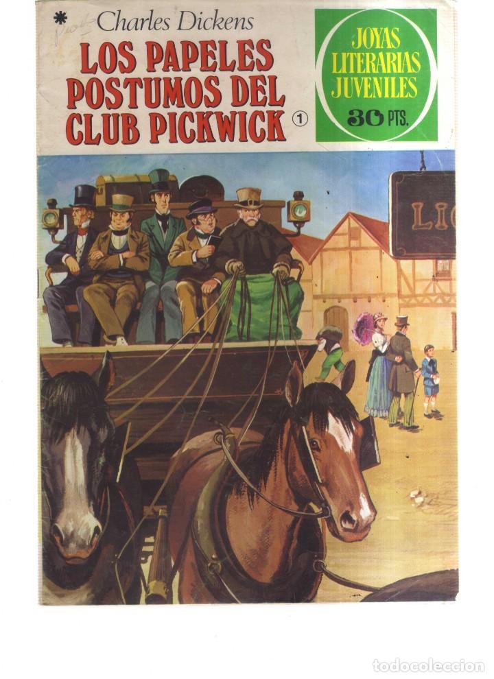 JOYAS LITERARIA JUVENILES LOS PAPELES POSTUMOS DEL CLUB PICKWICK N,199 (Tebeos y Comics - Tebeos Otras Editoriales Clásicas)
