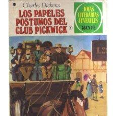 Tebeos: JOYAS LITERARIA JUVENILES LOS PAPELES POSTUMOS DEL CLUB PICKWICK N,199. Lote 288009168