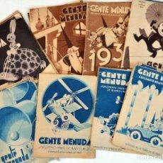 Tebeos: LOTE 46 EJEMPLARES DE GENTE MENUDA, 1932, 1933 Y 1934, MÁS CENTENARES DE HOJAS SUELTAS. Lote 288209858