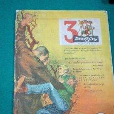 Tebeos: 3 AMIGOS Nº 13. TINTIN EN EL TESORO DE RAKHAM EL ROJO. CONCURSO UNA COMIDA CON DI STEFANO. 1959. Lote 288513213
