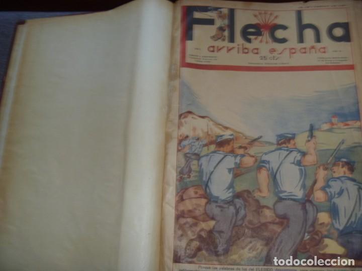 Tebeos: REVISTA FLECHA ARRIBA ESPAÑA J.O.N.S. FET FEBRERO DE 1937 a DICIEMBRE DE 1937 GUERRA CIVIL ESPAÑOLA - Foto 2 - 289713803