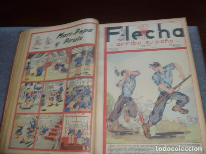 Tebeos: REVISTA FLECHA ARRIBA ESPAÑA J.O.N.S. FET FEBRERO DE 1937 a DICIEMBRE DE 1937 GUERRA CIVIL ESPAÑOLA - Foto 4 - 289713803