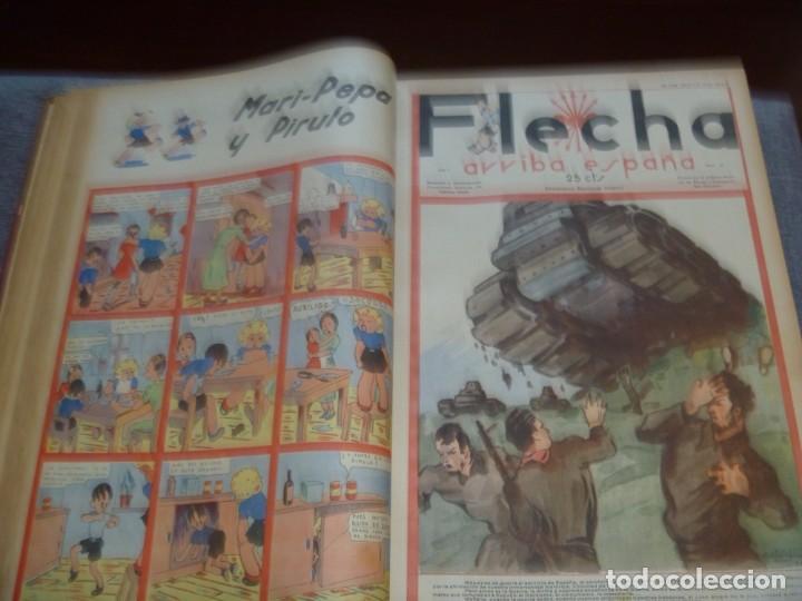 Tebeos: REVISTA FLECHA ARRIBA ESPAÑA J.O.N.S. FET FEBRERO DE 1937 a DICIEMBRE DE 1937 GUERRA CIVIL ESPAÑOLA - Foto 6 - 289713803