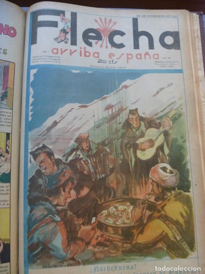 Tebeos: REVISTA FLECHA ARRIBA ESPAÑA J.O.N.S. FET FEBRERO DE 1937 a DICIEMBRE DE 1937 GUERRA CIVIL ESPAÑOLA - Foto 11 - 289713803