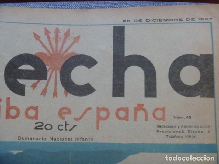 Tebeos: REVISTA FLECHA ARRIBA ESPAÑA J.O.N.S. FET FEBRERO DE 1937 a DICIEMBRE DE 1937 GUERRA CIVIL ESPAÑOLA - Foto 12 - 289713803