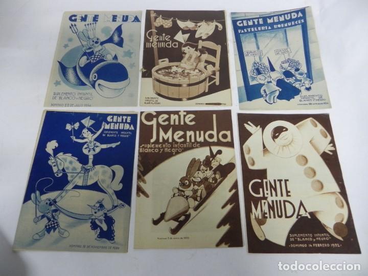 Tebeos: 9 ejemplares de Gente menuda, Suplemento Infantil Blanco y Negro, 6 son de 1932 y 3 de 1934. - Foto 2 - 289996993