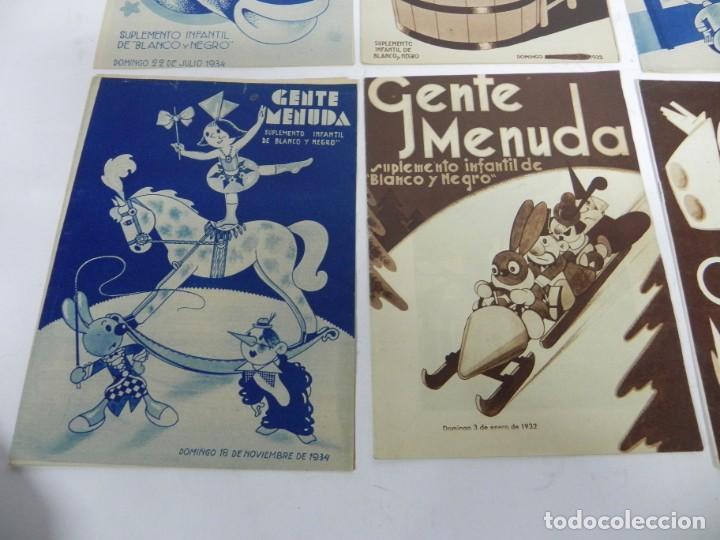 Tebeos: 9 ejemplares de Gente menuda, Suplemento Infantil Blanco y Negro, 6 son de 1932 y 3 de 1934. - Foto 4 - 289996993