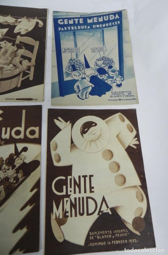 Tebeos: 9 ejemplares de Gente menuda, Suplemento Infantil Blanco y Negro, 6 son de 1932 y 3 de 1934. - Foto 5 - 289996993