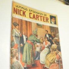 Giornalini: LOS ÚLTIMOS EPISODIOS DE NICK CARTER Nº 34 LOS LADRONES DEL GRAN MUNDO ED.SOPENA (ESTADO NORMAL). Lote 290144123