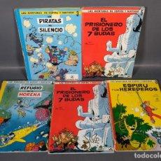 Livros de Banda Desenhada: LOTE 5 CÓMICS DE LAS AVENTURAS DE ESPIRU Y FANTASIO JAIMES LIBROS AÑOS 60. Lote 292265803