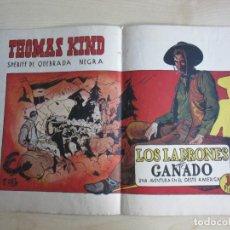 Tebeos: THOMAS KIND SHERIFF DE QUEBRADA NEGRA LOS LADRONES DE GANADO ED LOSADA AÑOS 40. Lote 292580053