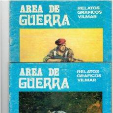 Tebeos: * AREA DE GUERRA * Nº 19, 22 * RELATOS GRÁFICOS VILMAR. AÑO 1981.*. Lote 294114053