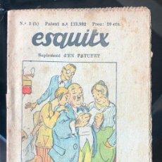 Tebeos: ESQUITX - SUPLEMENT D'EN PATUFET - Nº3 (B) LA FORÇA DE LA COSTUM. Lote 294823308