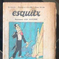 Tebeos: ESQUITX - SUPLEMENT D'EN PATUFET - Nº55 (B) LA DISSORT. Lote 294825903
