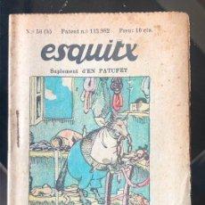 Tebeos: ESQUITX - SUPLEMENT D'EN PATUFET - Nº56 (B) EL LLOP I LA GUINEU. Lote 294825983