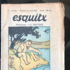 Tebeos: ESQUITX - SUPLEMENT D'EN PATUFET - Nº71 (B) LLENGUES PRIMITIVES. Lote 294826113
