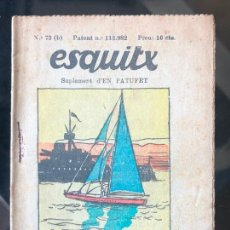 Tebeos: ESQUITX - SUPLEMENT D'EN PATUFET - Nº73 (B) UN NEGRE APROFITAT. Lote 294826203