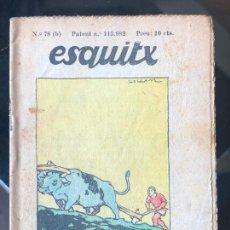 Tebeos: ESQUITX - SUPLEMENT D'EN PATUFET - Nº78 (B) UN DEU ORIGINAL. Lote 294826508