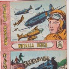 Livros de Banda Desenhada: VIDAS EN ACCIÓN. LOTE DE 2 EJEMPLARES: ASALTO AL TREN Y BATALLA AÉREA. BERNABÉU 1965. Lote 295651708