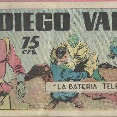 Tebeos: DIEGO VALOR - LA BATERIA TELECERO. Lote 296625898