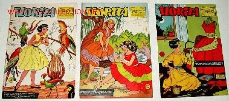 3 ANTIGUOS TEBEOS DE FLORITA - ED. CLIPER - 1958 APROXIMANDAMENTE - REVISTA DE NIÑAS (Tebeos y Comics - Cliper - Florita)