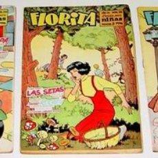 Tebeos: 3 ANTIGUOS TEBEOS DE FLORITA - ED. CLIPER - 1958 APROXIMANDAMENTE - REVISTA DE NIÑAS. Lote 26329360