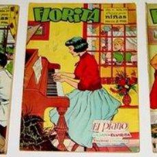 Tebeos: 3 ANTIGUOS TEBEOS DE FLORITA - ED. CLIPER - 1958 APROXIMANDAMENTE - REVISTA DE NIÑAS. Lote 853714
