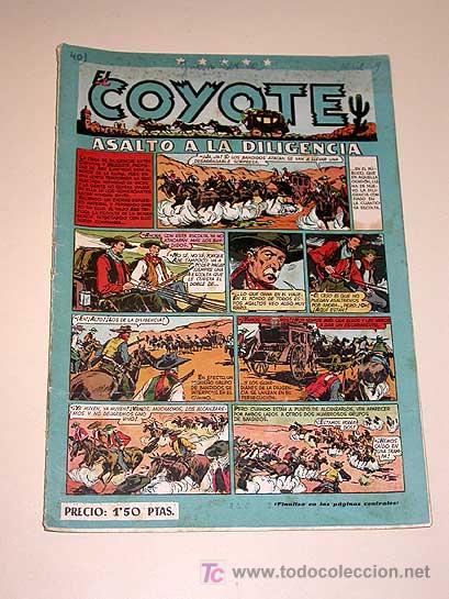 EL COYOTE Nº 40. ASALTO A LA DILIGENCIA. CLIPER. BATET, ROSO, DARNIS, URDA, POCH, BLASCO, GENIES.... (Tebeos y Comics - Cliper - El Coyote)