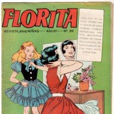 Tebeos: FLORITA Nº 313 PORTADA DE VICENTE ROSO. Lote 8724255