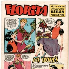Tebeos: FLORITA Nº 290 PORTADA DE VICENTE ROSO. Lote 8724362