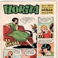 Tebeos: FLORITA Nº 267 PORTADA DE VICENTE ROSO. Lote 8724477
