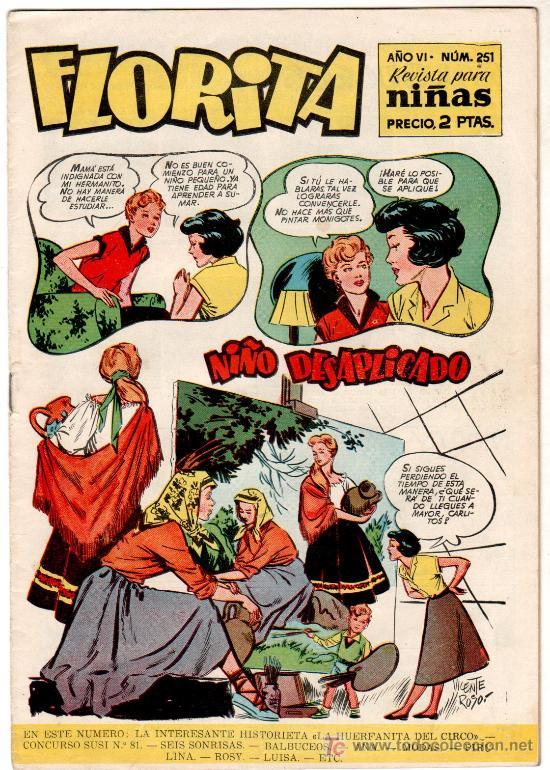 FLORITA Nº 251 PORTADA Y PAGINA INTERIOR DE VICENTE ROSO (Tebeos y Comics - Cliper - Florita)