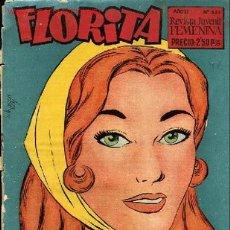 Tebeos: FLORITA-AÑOXI Nº 511-REVISTA JUVENIL FEMENINA,GRAFICAS GUADA,S.R.C. BARCELONA 1958. Lote 1642135