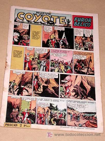 NUEVO COYOTE Nº 134. FUROR BÉLICO. LARRAZ, JESÚS BLASCO, BIELSA, URDA. EDICIONES CLIPER.++++++++++++ (Tebeos y Comics - Cliper - El Coyote)